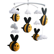 [Bee, Spring] Infant Musical Mobile, Nursery Mobile, Baby Mobile