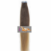 CarolsWigs® Best Quality 41cm Tape-In Ombre Top Lighter Brown Bottom Honey Blonde T6/20 100% Premier Remy Human Hair Extensions 5A* UK Seller