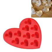 Silicone Ice Cube Tray Easy Pop Maker Heart Shape Cubes Mould Valentines GiftDIY Ice Lattice Jelly Mould Tray,Tuscom