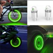 Auto Accessories Bike Supplies Neon Blue Strobe LED Tyre Valve Caps,Tuscom