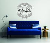 Elegant Custom Family Name - Wall Decal For Home Bedroom Living Room(765)