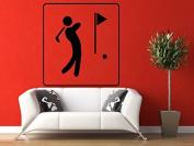 Wall Vinyl Sticker Decals Mural Room Design Decor Pattern Ball Golf Club Brassy Sport Game Hobby mi339
