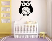 Wall Vinyl Sticker Decals Mural Room Design Decor Pattern Owl Bird Clock Watch Toy Kids Nursery Room mi329