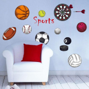 Wall Stickers,GOODCULLER Sport Ball Stickers Decorative Creative Removable Wall Stickers Home Decor