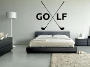 Wall Vinyl Sticker Decals Mural Room Design Pattern Golf Club Game Play Sport Hobby mi307