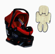 Britax B-Safe 35 Elite Infant Car Seat & Support Pillow, Red Pepper