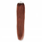 Beauty7 Auburn Long Straight 41cm 46cm 50cm 60cm 60cm 40g0.5g 25g0.5g 50g0.5g 50g1g 100g1g Easy Loops Micro Rings Beads Tipped 100% Real Human Microring Hair Extensions Beauty Design Salon Wigs Styling Party Woman Ladies Girls Cosplay Fashion Design (2 ..