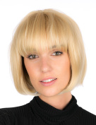 Women's Luxury Deep Square Cut with Fringe – Very High Quality Synthetic Hair Wig Dark Brown