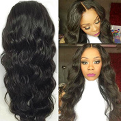 Maycaur Black Hair Wig Synthetic Heat Resistant Body Wave Synthetic Lace Front Wig 22-60cm