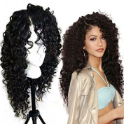 Maycaur 150% Density Heat Resistant Lace Front Wigs Synthetic For Black Women 60cm
