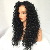Maycaur Long Curly Hair Wigs Women Lace Front Wig Synthetic No Tangle 24-70cm
