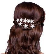 Bodhi2000® 6 Pcs Womens Starfish Crystal Hair Pins U-shape Hair Clips
