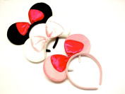 La Peach Fashions Gorgeous Set Of Three Mouse Ear Alice Bands Fancy Dress Hen Party Head Bands
