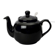 London Pottery Traditional 6 Cup Farmhouse Filter Teapot Gloss Black