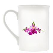 Freesia Flower Image Design Bone China Ceramic Mug