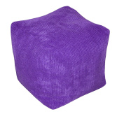 Cube Bean Bag with Filling Ocean Cord Kids Pouffe Foot Stool Beanbag Extra Seat