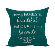 Nunubee Words Printed Soft Pillowcase Cotton Cushion Cover Square Decorative Home Accessories Style 2
