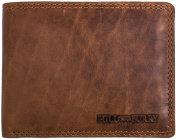 Hill Burry compact wallet Portmonnaie in soft oiled cowhide - Vintage Look