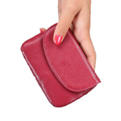 Anshili Unisex Multi Colour Mini Leather Coin Purse Wallet with Key Ring