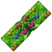 Stray Decor (Butterfly Green) Travel, Credit, Oyster Card Holder / Bus Pass Wallet