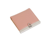 Womens Genuine Cowhide Saffiano Leather Bifold Wallets