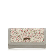 Mantaray Womens Grey Floral Fold Over Purse
