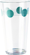 Corelle Coordinates by Reston Lloyd Acrylic South Beach Tumbler Glasses (Set of 6), 560ml, Clear