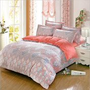 Pastoral Style Bedding Four Sets Of Crystal Velvet Warm 3d Carved Bed Sheets Quilt (1quilt + 1bed Sheets + 2pillowcase) , 10 , 200*230