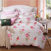Korean Style Bedding Four Sets Of Sets Of Autumn And Winter Warm Multi-Specifications Home Textiles Cotton (1 Quilt + 1 Bed Sheet +2 Pillowcase) , 7 , 200*230