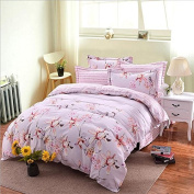 European Style Bedding Four Sets Of Ecological Sanding Satin Cotton Lace (1 Quilt + 1Bed Sheets + 2pillowcase) , 6 , 220*240