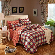 Simple Style Bedding Four Sets Of Ecological Sanding Activity Cotton Thickening (1 Quilt + 1 Bed + 2 Pillowcases) , 3 , 220*240