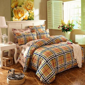 Simple Style Bedding Four Sets Of Ecological Sanding Activity Cotton Thickening (1 Quilt + 1 Bed + 2 Pillowcases) , 2 , 200*230