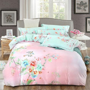 American Style Bedding Four Sets Of Cotton Activity Soft Silk Satin Thick Wedding Matte (1 Quilt + 1 Bed Sheet +2 Pillowcase) , 5 , 220*240