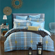 European Style Bedding 3D Four Sets Of Simple Striped Cotton Rounded Bed Quilt (For 1.5M-2M Bed) , 8 , 220*240