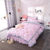 Korean Style Bedding Four Sets Of Pure Cotton Lotus Lace Princess Bed Skirt Bedspreads , 7 , 200*230