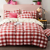 Simple Style Bedding 3D Four-Piece Cotton Washed Cotton Pure Colour Printing Wedding (For 1.5M-2M Bed) , 1 , 200*230