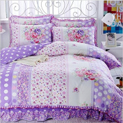 Korean Style Bedding 3D Four Sets Of Tribute Cotton Lace Bed Skirt Princess Models (For 1.5M - 1.8M Bed) , 8 , 200*230