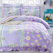 Korean Style Bedding 3D Four Sets Of Tribute Cotton Lace Bed Skirt Princess Models (For 1.5M - 1.8M Bed) , 14 , 200*230