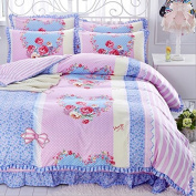 Korean Style Bedding 3D Four Sets Of Tribute Cotton Lace Bed Skirt Princess Models (For 1.5M - 1.8M Bed) , 11 , 200*230
