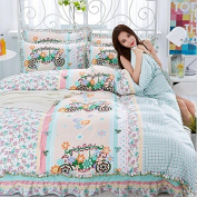 Korean Style Bedding 3D Four Sets Of Tribute Cotton Lace Bed Skirt Princess Models (For 1.5M - 1.8M Bed) , 9 , 200*230