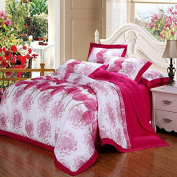 Pastoral Style Bedding 3D Four Sets Of High-Grade Cotton Material Twill Printed Wedding (For 1.5M - 2M Bed) , 3 , 220*240