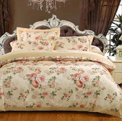 Pastoral Style Bedding 3D Four Sets Of High-Grade Cotton Material Twill Printed Wedding (For 1.5M - 2M Bed) , 10 , 200*230