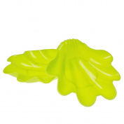 Saim Plastic Home Kitchen Shell Shaped Food Fruit Snack Candy Plate Holder Green