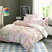 Simple Style Bedding 3D Three-Piece Set 100% Cotton Active Twill Lattice Student Dormitory (For 1.2M - 1.5M Bed) , 3 , 1.5-1.8 m bed