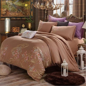 Pastoral Style 3D Bed Four Sets Of 100% Cotton Embroidery High - End Four Seasons Bedding , 7 , 200*230