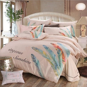 Pastoral Style 3D Bed Four Sets Of 100% Cotton Embroidery High - End Four Seasons Bedding , 3 , 200*230