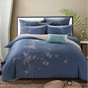 Pastoral Style 3D Bed Four Sets Of 100% Cotton Embroidery High - End Four Seasons Bedding , 2 , 200*230