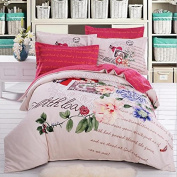 3D Bedding Four Sets Of Cotton Active Printing Sanding Double Bed Linen , 1 , 180*220