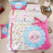 3D Bedding Four Sets Of Cotton Active Printing Sanding Double Bed Linen , 5 , 180*220