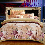 Pastoral Style 3D Bed Four Sets Of 100% Cotton High-Grade Colourful Hollow Jacquard Bedding , 3 , 200*230